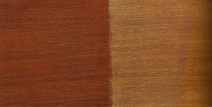 due colori diversi del mogano una volta lucidati-artedelrestauro.it