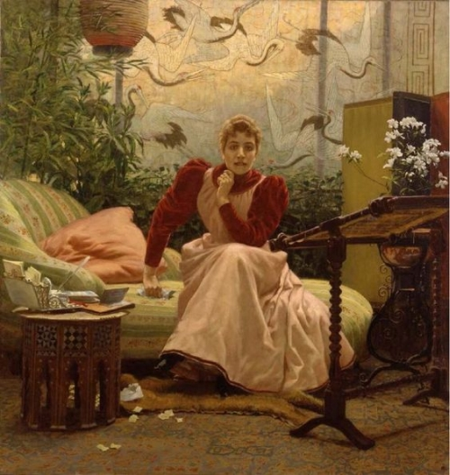 tipico soggiorno in stile liberty o floreale con carta parati e tappeti-artedelrestauro.it