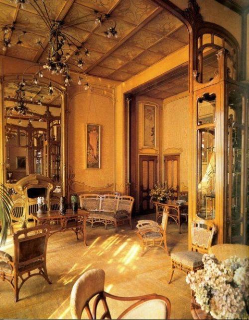 grande soggiorno in stile liberty o floreale-artedelrestauro.it
