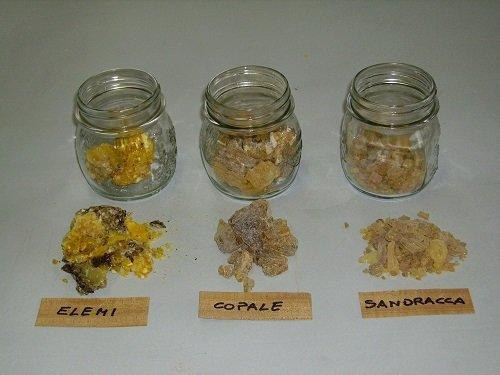 Le resine naturali usate nel restauro.