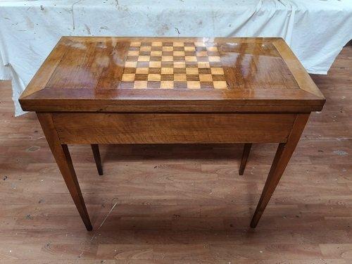 Tavolo da gioco neoclassico restaurato.