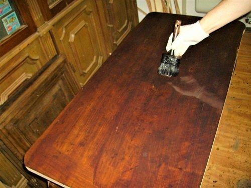 Coloritura. Come restaurare un tavolo da muro o consolle. Mestierincorso.it