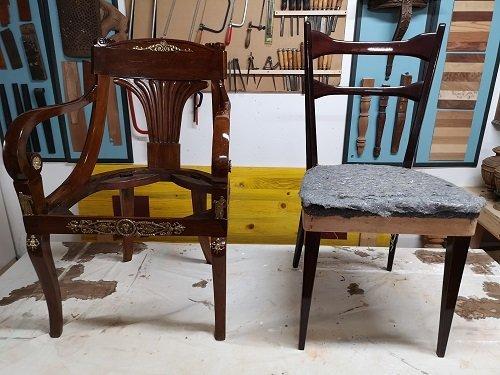Come restaurare i mobili Vintage: sedie a confronto.