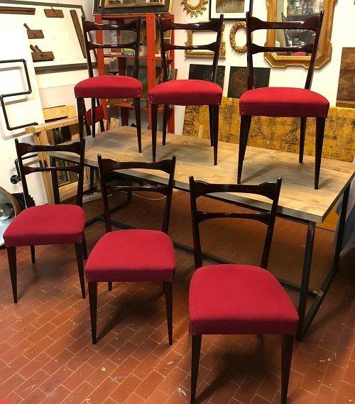 Sei sedie Vintage restaurate. Come restaurare i mobili Vintage
