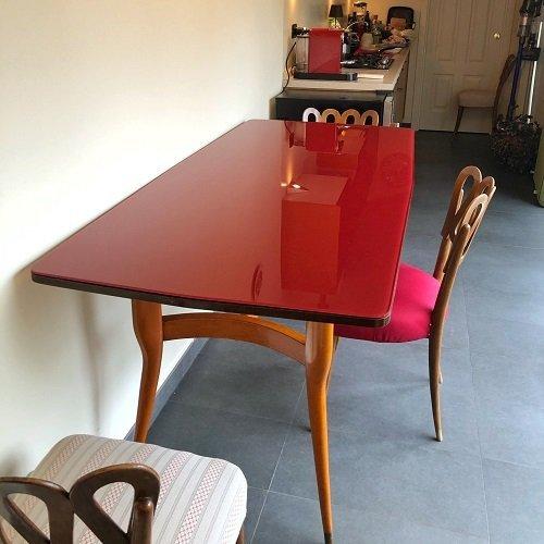 Tavolo Vintage con seggiolina Giò Ponti.